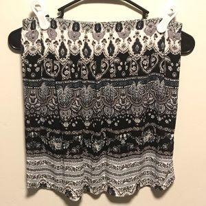 🌻PacSun LA Hearts Mini Skirt Boho Black & White